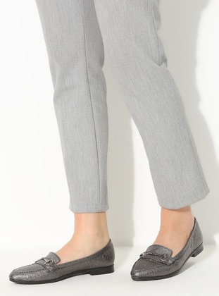 Silver - Flat - Casual - Flat Shoes