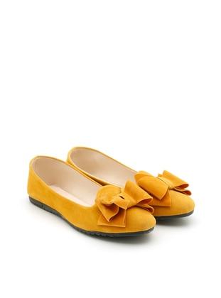 Yellow - Flat - Casual - Flat Shoes