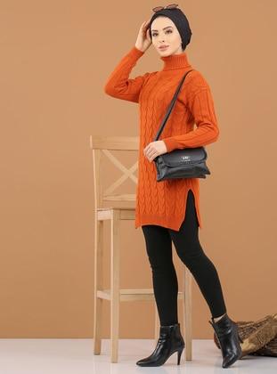 Terra Cotta - Polo neck - Acrylic -  - Tunic