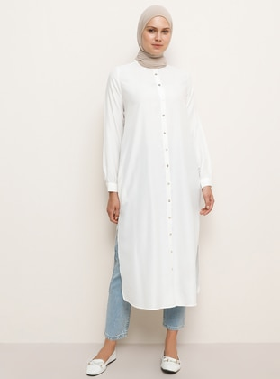 White - Crew neck -  - Viscose - Tunic