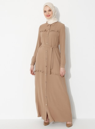 Mink - Point Collar - Unlined - Dress