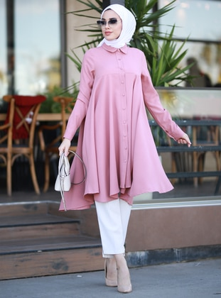 Dusty Rose - Powder - Point Collar - Tunic