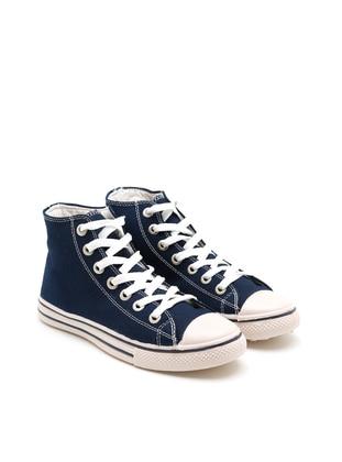 Cream - Navy Blue - Sport - Sports Shoes