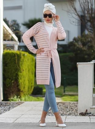 Powder - Stripe - Unlined - Acrylic -  -  - Knit Cardigans