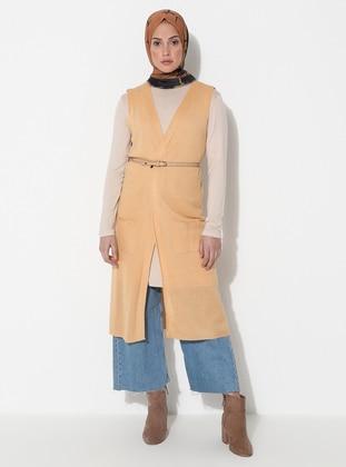 Mustard - Unlined - Acrylic -  -  - Vest
