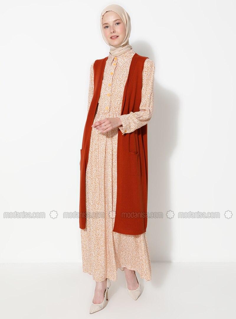 Tan - Unlined - Acrylic -  -  - Vest