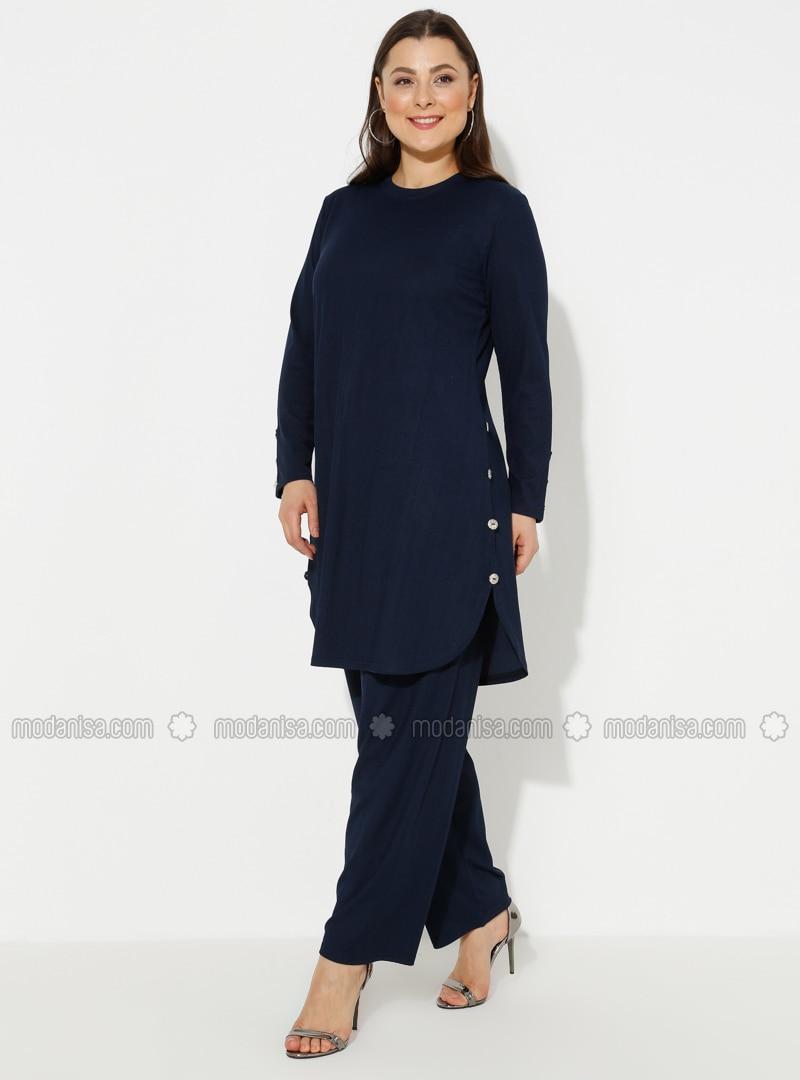 Navy Blue - Plus Size Suit