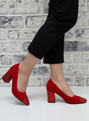 Red - High Heel - Evening Shoes - Snox