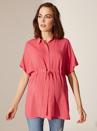 Pink - Maternity Blouses Shirts