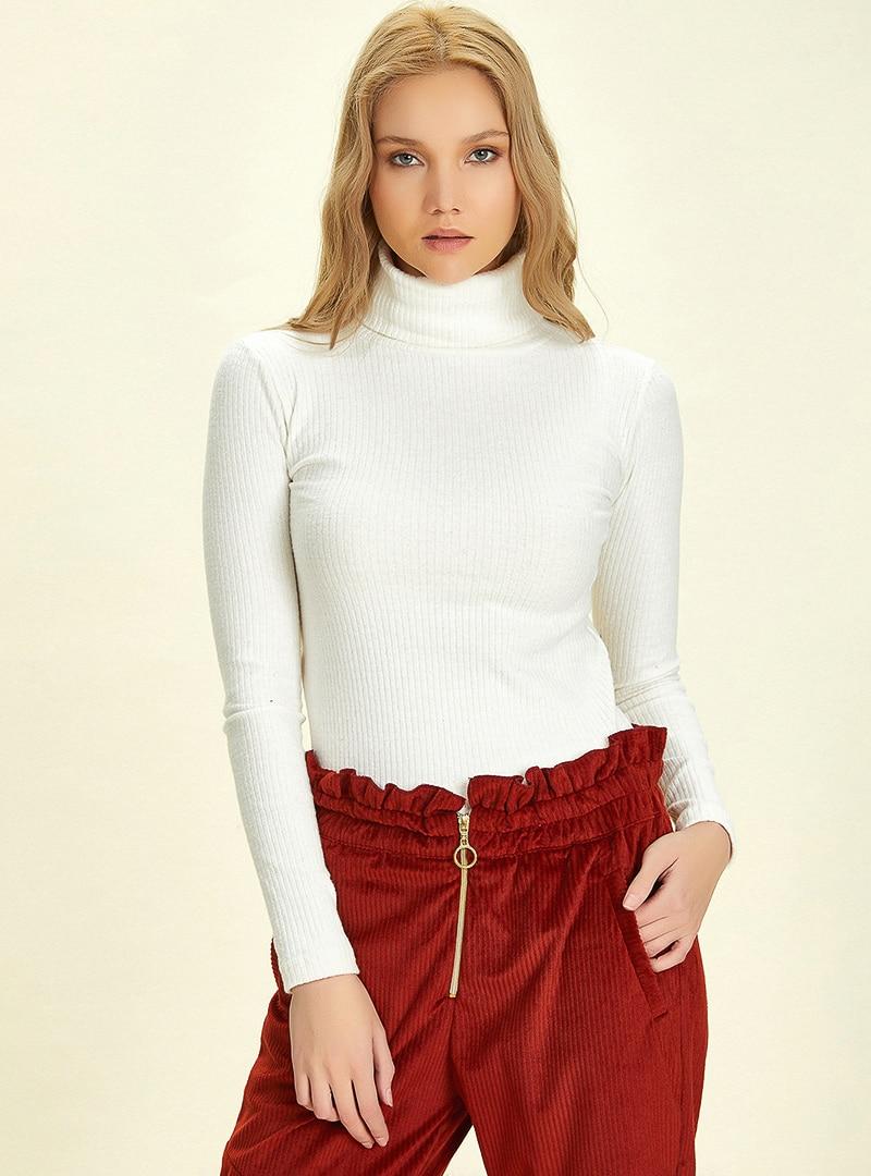 Tesettür Bluz Gömlek Nare Beyaz Kadın 38