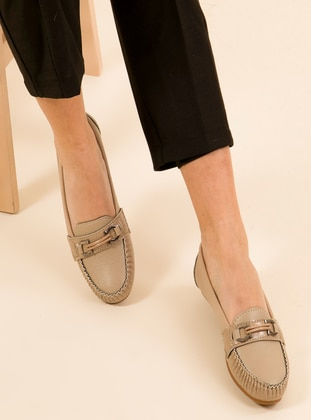 Nude - Flat - Flat Shoes