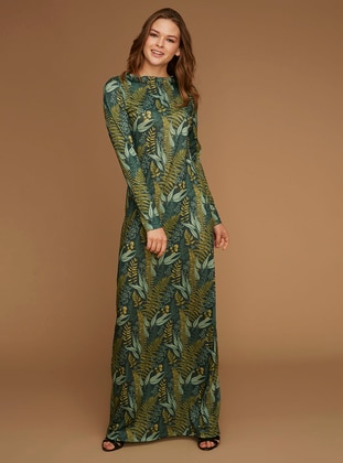 Multi - Multi - Boat neck - Unlined -  - Dress