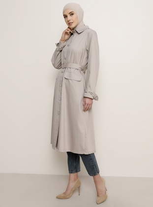 Camel - Point Collar - Trench Coat