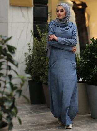 Blue - Unlined -  - Dress