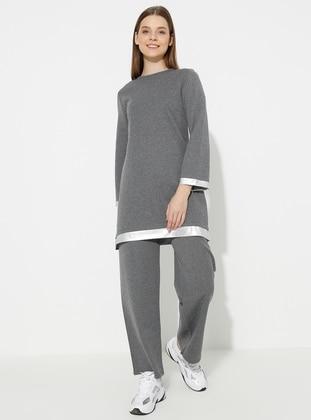 - Gray - Loungewear Suits - Meliana