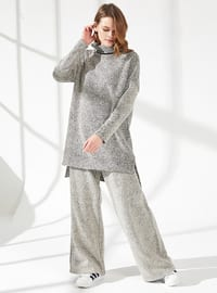 Gray - Unlined - - Viscose - Suit