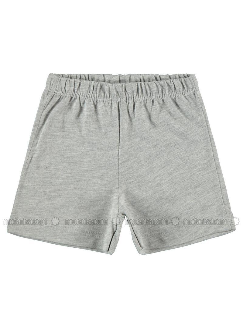 Gray - Baby Shorts