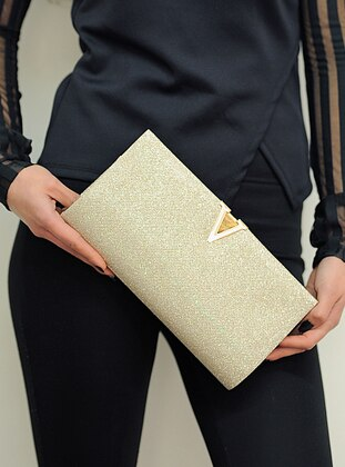 Gold - Clutch - Clutch Bags / Handbags