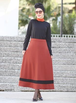 Terra Cotta - Black - Unlined - Skirt