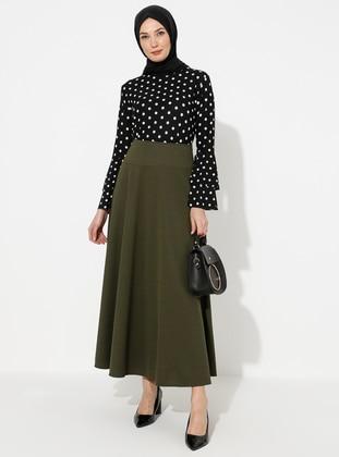 Khaki - Half Lined - Skirt