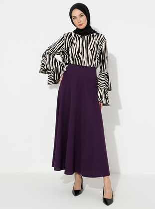 Purple - Half Lined - Skirt