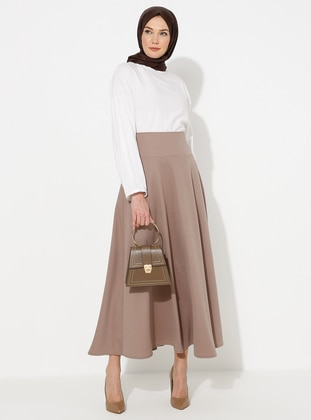 Mink - Half Lined - Skirt - Miss Cazibe