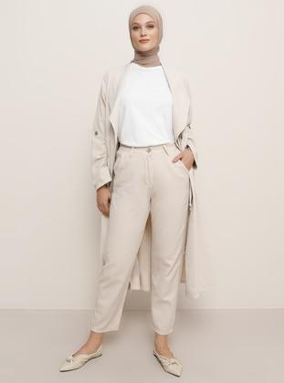 Beige -  - Pants