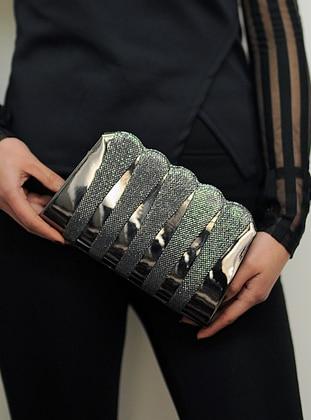 Silver - Clutch - Clutch Bags / Handbags - WMİLANO