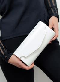 White - Satchel - Clutch Bags / Handbags
