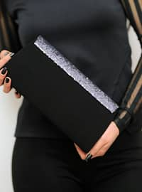 Silver - Satchel - Clutch Bags / Handbags
