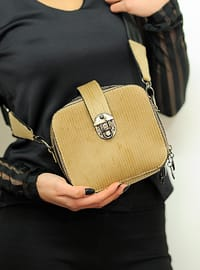 Beige - Satchel - Shoulder Bags