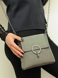 Gray - Satchel - Shoulder Bags