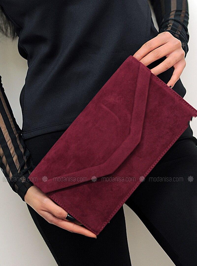 Maroon - Satchel - Clutch Bags / Handbags