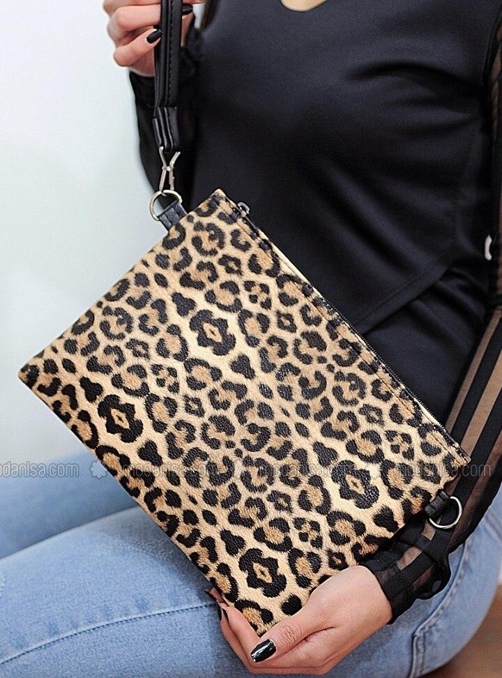 Leopard - Satchel - Clutch Bags / Handbags