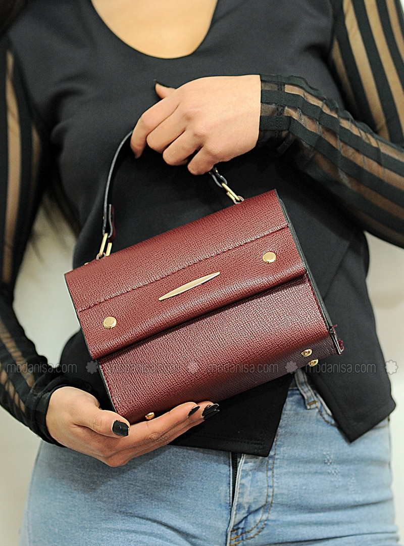 Maroon - Satchel - Shoulder Bags