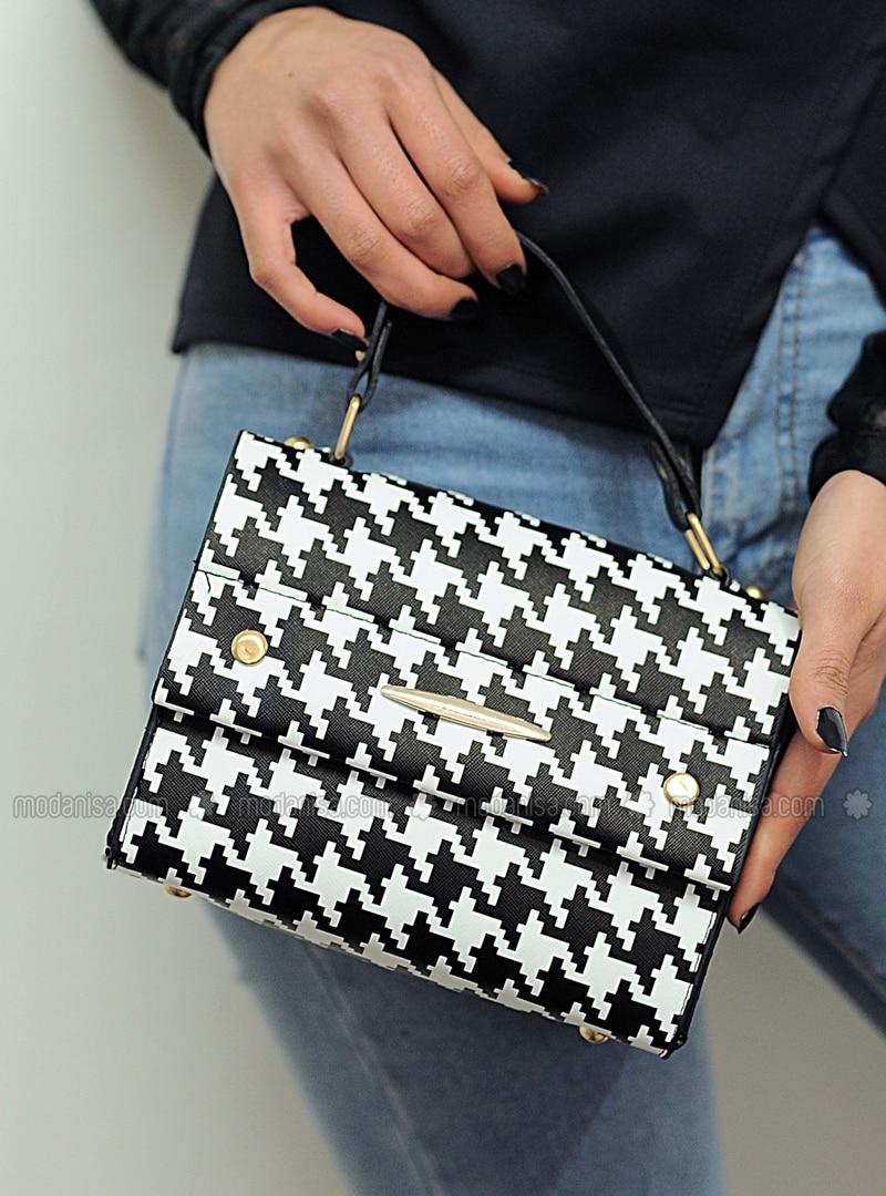 White - Black - Satchel - Shoulder Bags
