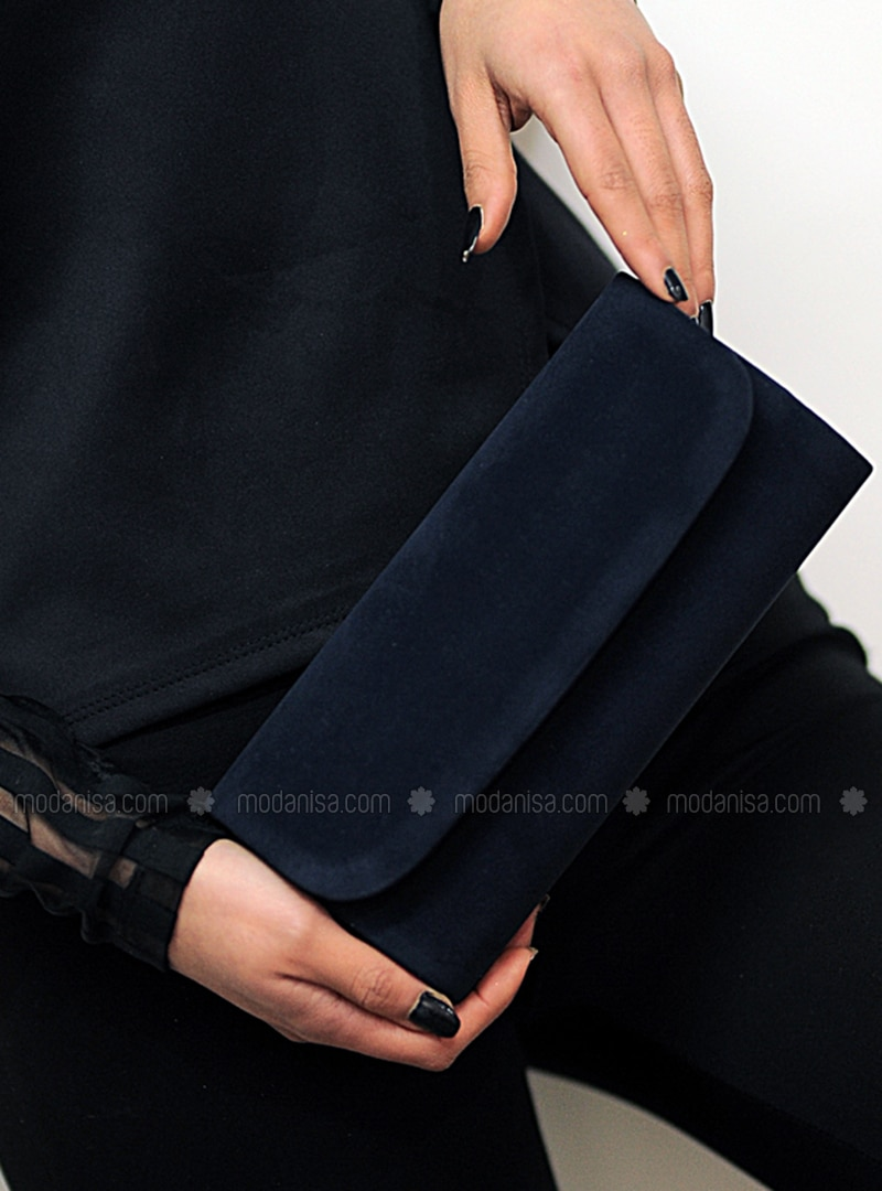 Navy Blue - Clutch - Clutch Bags / Handbags