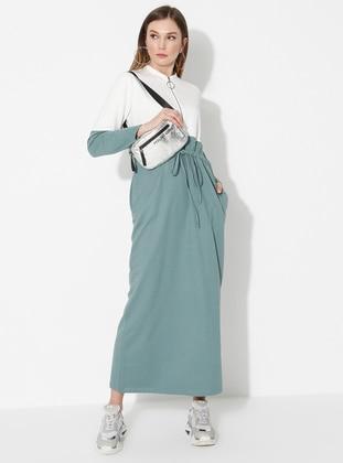 Green Almond - Ecru - Crew neck - Unlined -  - Dress
