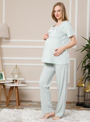 Sea-green -  - Maternity Pyjamas