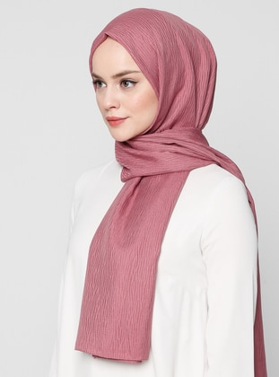 Dusty Rose - Plain - Jacquard - Shawl