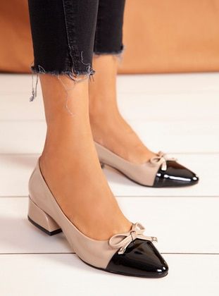 Beige - Black - High Heel - Heels