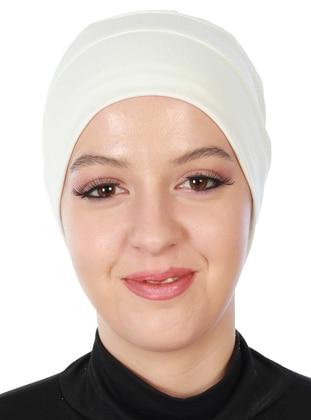 Cream - Plain - Combed Cotton - Bonnet
