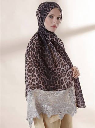 Leopard - Mink - Leopard - Instant Scarf