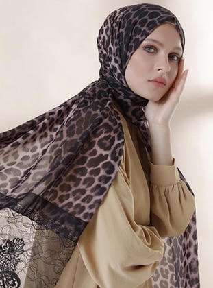 Leopard - Black - Leopard - Instant Scarf