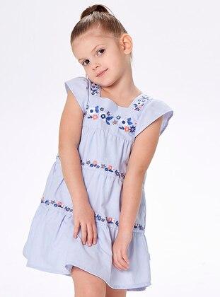Sweatheart Neckline -  - Blue - Girls` Dress