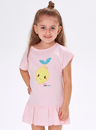 Crew neck -  - Pink - Girls` Dress