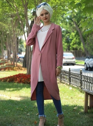 Dusty Rose - Shawl Collar - Cardigan