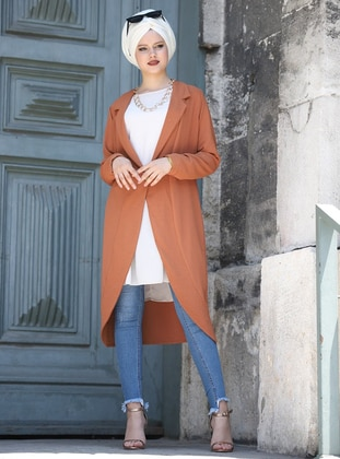 Terra Cotta - Shawl Collar - Cardigan