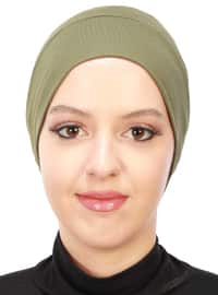Khaki - Plain - Combed Cotton - Bonnet