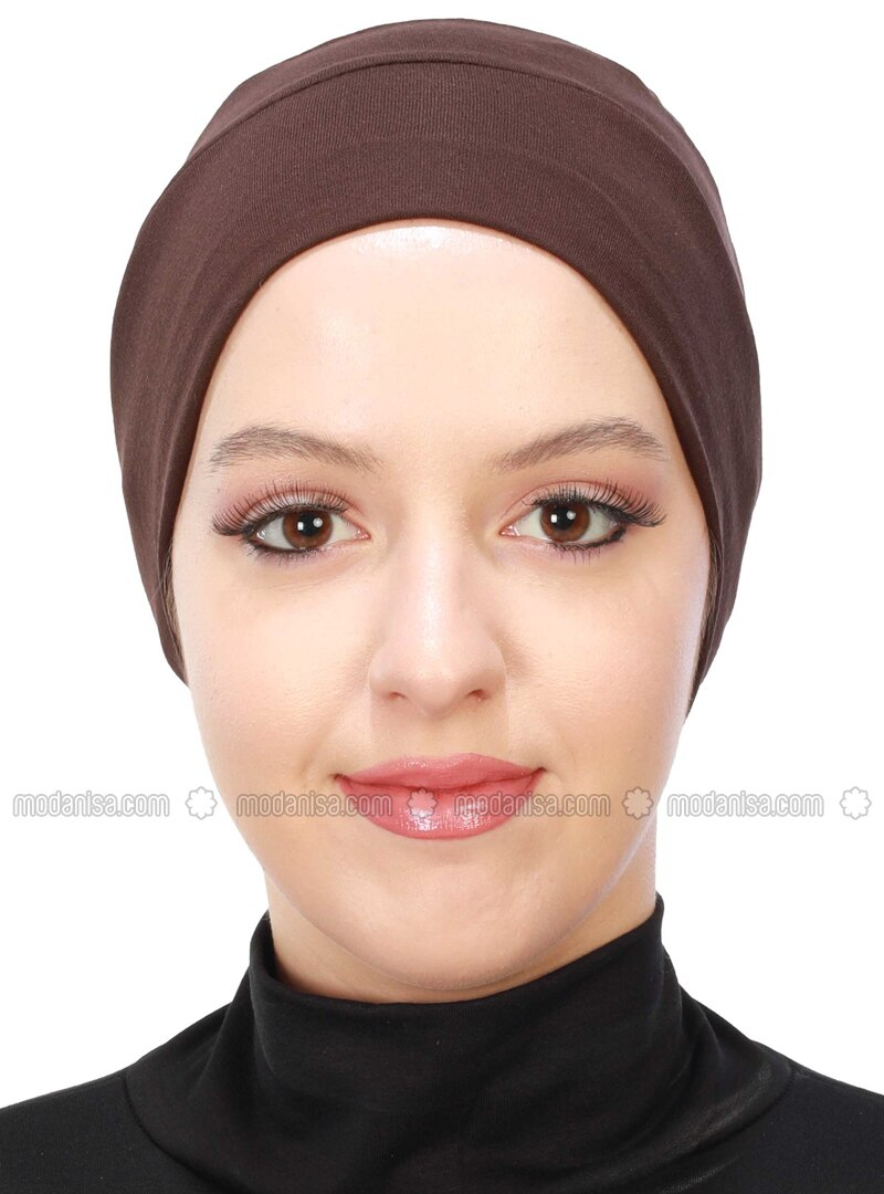 Brown - Plain - Combed Cotton - Bonnet